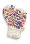 Ready for Confetti Mittens - Purple, White, Multi, Knitted, Casual, Fall, Winter