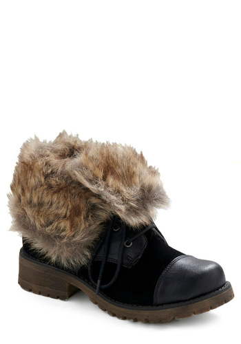 I Concur Boot - Black, Brown, Tan / Cream, Casual, 90s, Fall, Winter
