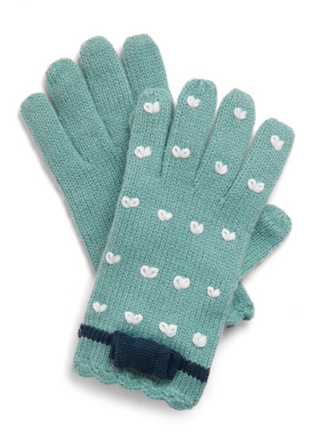 None of the A-glove - Green, White, Print, Knitted, Casual, Fall, Winter, International Designer