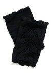 Finger-lace Gloves by Tulle Clothing - Party, Casual, Fall, Black, Solid