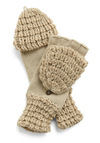 Cool Companion Gloves by Tulle Clothing - Cream, Solid, Buttons, Knitted, Fall, Winter