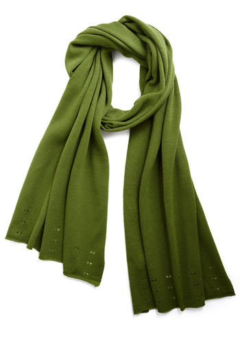 Wrapped in Warmth Scarf by Tulle Clothing - Green, Solid, Fall, Winter