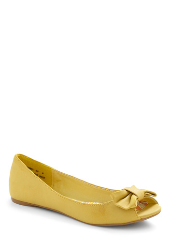 Flat Out Adorable in Bee - Yellow, Solid, Bows, Cutout, Casual, Spring, Summer