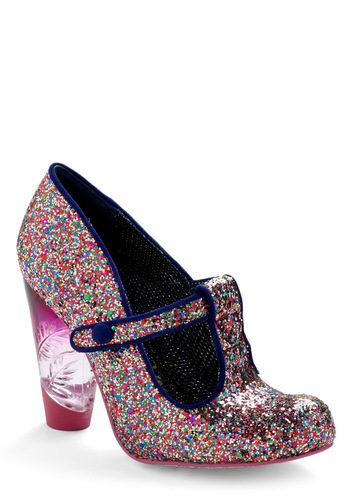 Glitter Bug Heel by Irregular Choice - Multi, Party, Pink, High, Best, T-Strap