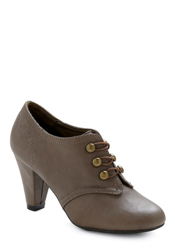Published Author Heel - Grey, Solid, Casual, Fall, Winter