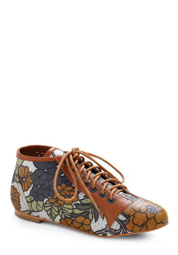Trolley Tour Shoe by Shellys of London - Blue, Tan, Multi, Floral, Casual, Spring, Fall