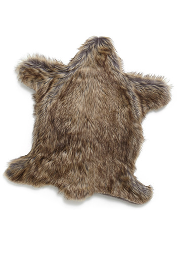 Bear-ly Awake Pet Rug - Brown, Solid, Quirky