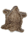 Bear-ly Awake Pet Rug by Loyal Luxe - Brown, Solid, Quirky