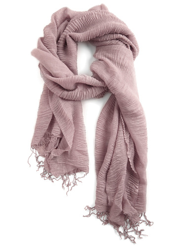 Gossamer Gyrose Scarf in Taupe - Tan, Casual, Spring, Fall, Winter