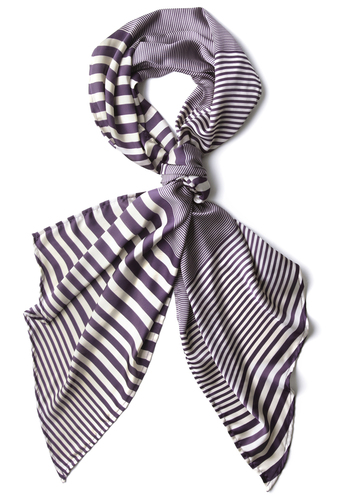 A Line of the Times Scarf - Purple, Stripes, Casual, Spring, Fall