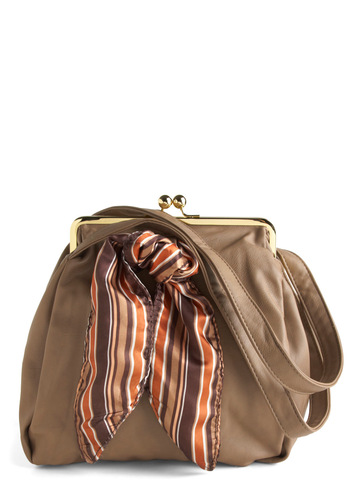 Change of Purse - Brown, Orange, Purple, Multi, Stripes, Casual