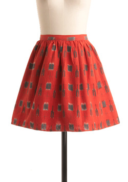 Fair Trade Secret Skirt in Red