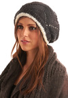 Hat to Believe in Charcoal - Grey, White, Knitted, Casual, Fall, Winter, Show On Featured Sale, Show On Featured Sale