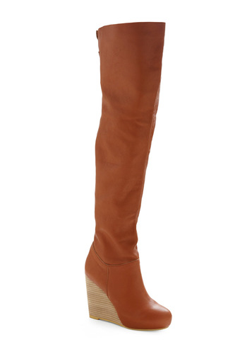Honey Rum Boot - Tan, Solid, Party, Casual, Fall, Winter
