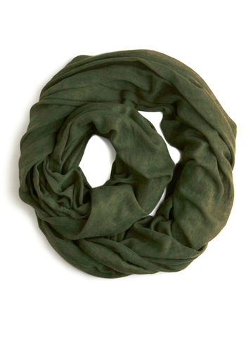 Come Full Circle Scarf in Olive - Green, Solid, Casual, Fall, Winter