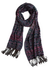 Gem of Jerome Scarf - Blue, Pink, Print, Fringed, Purple, Spring, Summer, Fall