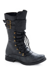 Raise the Sails Boot - Blue, Solid, Casual, Military, Fall, Winter