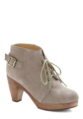 Write Now Bootie - Brown, Solid, Casual, Menswear Inspired, Fall, Winter