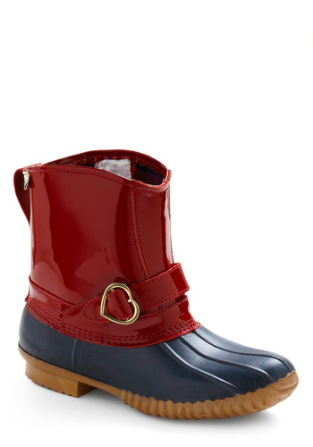 Rachel Antonoff for Bass I Love the Rain Boots by Bass - Red, Casual, Spring, Fall, Winter, Blue