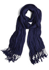 Crinkle in Time Scarf in Indigo - Party, Casual, Minimal