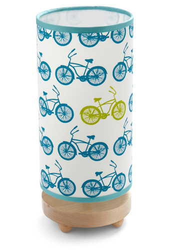Pedal Power Lamp - Blue, White, Green, Novelty Print, Dorm Decor