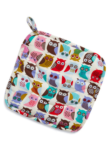 If You Can't Stand the Hoot Pot Holder - Multi, Print with Animals, Owls, Best Seller, Best Seller, Mid-Century, Good