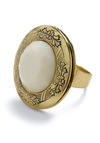 Stay With Me Ring - White, Gold, Boho