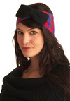 Fave Bow Band Headband - Red, Blue, Black, Stripes, Bows, Knitted, Purple, Pink