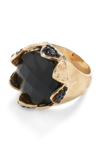 Crownin' Around Ring - Gold, Black
