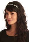 Struck Silver Headband - Silver, Bows, Party