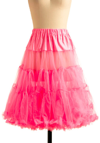 Va Va Voluminous Petticoat in Pink - Pink, Solid, Tiered, Ballerina / Tutu, Formal, Prom, Wedding, Party, 50s, International Designer, Variation
