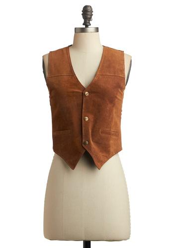 Vintage Go Vest Young Woman
