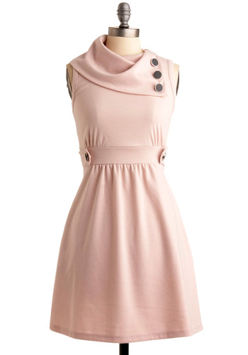 Coach Tour Dress in Rose - Pink, Solid, Buttons, Casual, A-line, Sleeveless, Spring, Summer, Fall, Show On Featured Sale, Mid-length