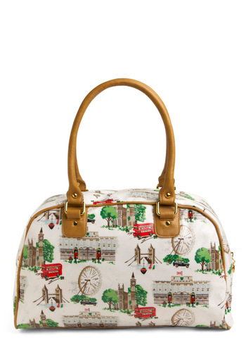 London Town Bag - White, Multi, Novelty Print