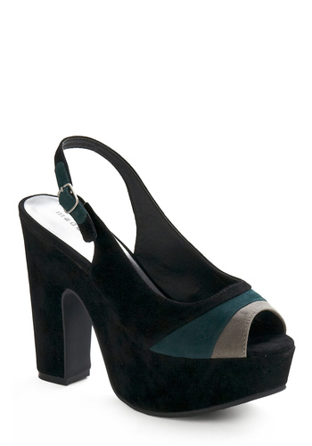 Steel and Glass Heel - Black, Green, Grey, Tan / Cream, Solid, Party, Rockabilly, Pinup, Vintage Inspired, 50s, 60s