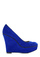 Betsey Johnson Shoe Velvet Wedge