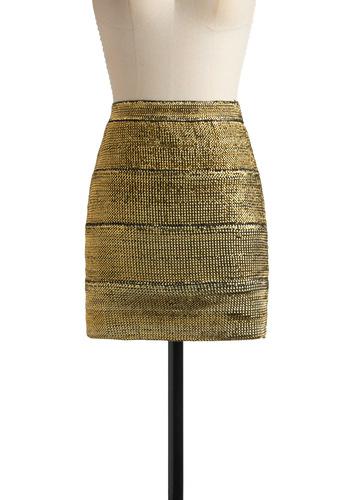 Shimmer Sparkle Skirt in Gold