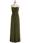 Always and For Evergreen Dress in Moss - Green, Solid, Maxi, Strapless, Summer, Casual, Long, Boho, Jersey, Sweetheart, Tis the Season Sale, Basic, Fall, Gifts Sale, Beach/Resort, Cover-up, Top Rated