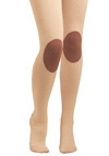 Knee-d to Know Tights by Hansel from Basel - Brown, Cream, Casual, Fall, Winter