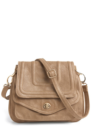 Get Up and Go Shoulder Bag - Tan, Solid