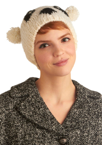 Truth or Bear Hat - White, Casual, Fall, Winter