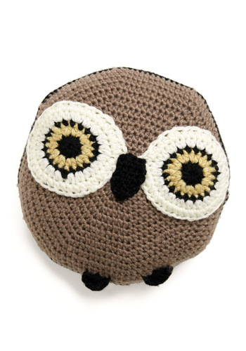Pal Around the House Pillow in Owl - Brown, Owls, Dorm Decor