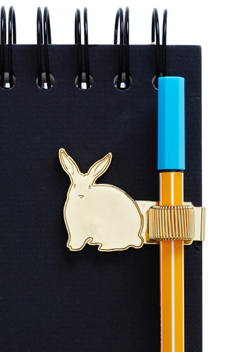 Rabbit Reader Pen Holder - Gold, Spring, Summer, Fall, Winter