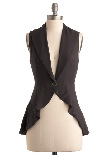 Fully In-vest-ed - Grey, Solid, Work, Casual, Sleeveless, Spring, Summer, Fall, Winter, Show On Featured Sale, Show On Featured Sale, Mid-length