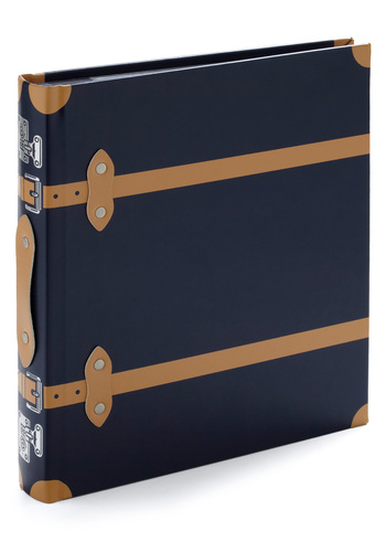 Case in Point and Shoot Photo Album - Blue, Tan / Cream