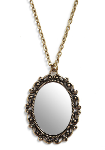 In the Mirror Future Necklace - Gold, Party, Work, Casual
