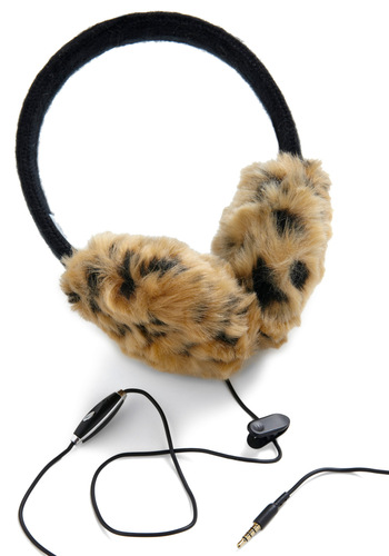 Listen and Leap Earmuffs - Tan, Black, Animal Print