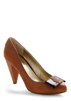 Spacebar Heel by Seychelles - Bows, Work, Fall, Brown, Solid, Casual