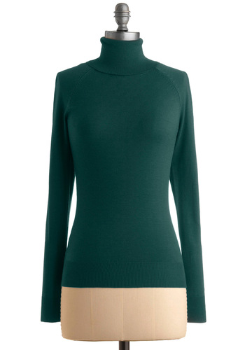 Jet Setter Sweater in Teal - Green, Solid, Long Sleeve, Knitted, Work, Casual, Fall, Winter, Mid-length