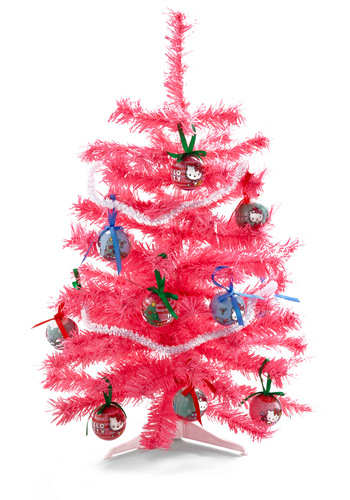 Home Fur the Holidays Mini Christmas Tree - Pink, Winter, Kawaii